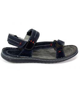 Sandały Riko 806 Juma Blue/Welur