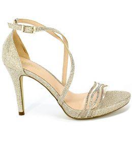 Sandały Menbur 21598 0087 Piedra/Stone Złoty
