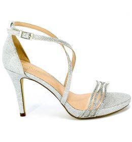Sandały Menbur 21598 0009 Plata/Silver Srebrny