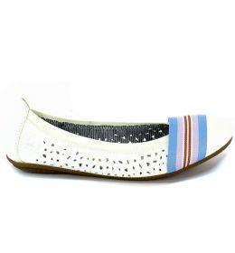 Baleriny Letnie Rieker 41455-80 Weiss Biały