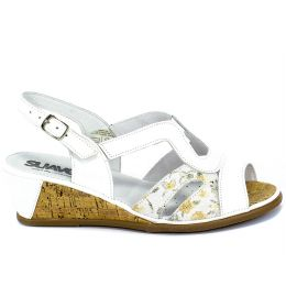 Sandały Suave 711036-3 Weiss Biały Skóra