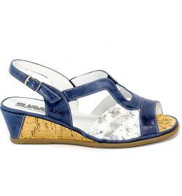 Sandały Suave 711033-5 Cobalt Niebieski Skóra