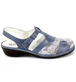 Sandały Suave 720140-5 Cobalt Niebieski Skóra